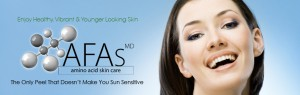 AFA facial peel banner